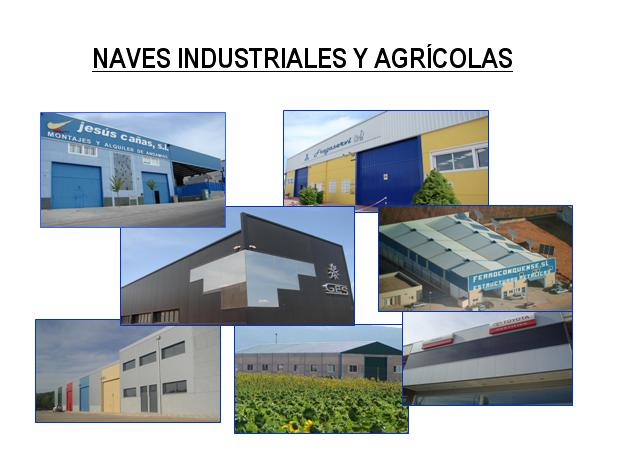 MENU PRODUCTOS NAVES INDUSTRIALES Y AGRICOLAS