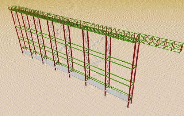 Estructura Metálica. Paletizadora